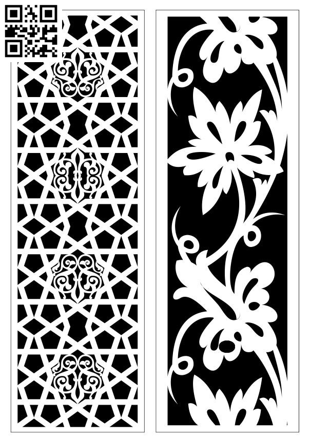 Design pattern screen panel E0010133 file cdr and dxf free vector download for Laser cut CNC