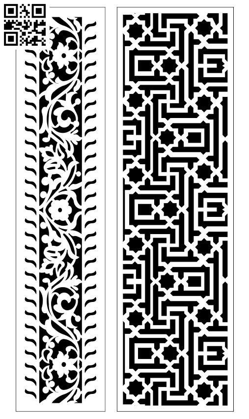 Design pattern screen panel E0010134 file cdr and dxf free vector download for Laser cut CNC