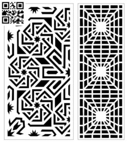 Design pattern screen panel E0010135 file cdr and dxf free vector download for Laser cut CNC