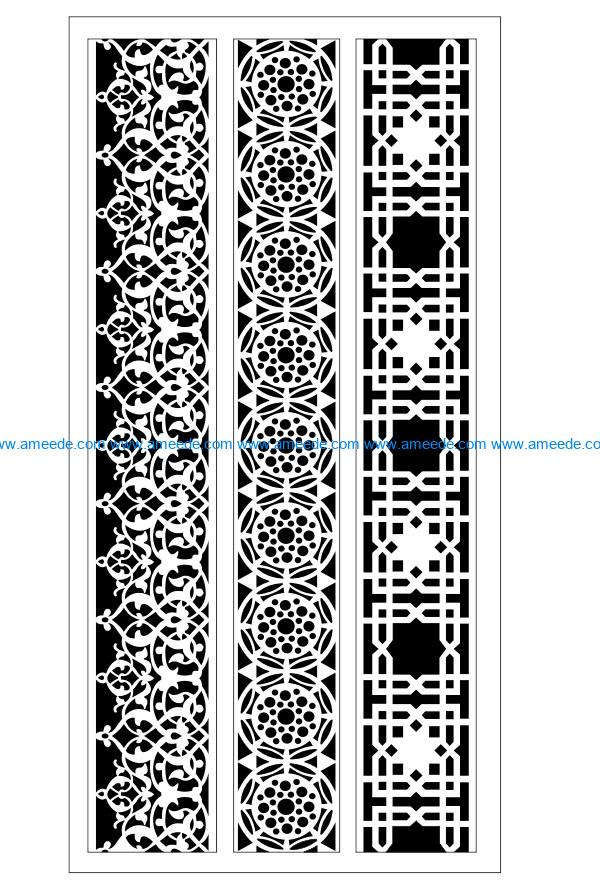 Design pattern woodcarving E0009928 file dxf free vector download for Laser cut CNC