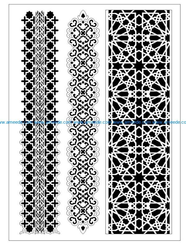 Design pattern woodcarving E0009929 file dxf free vector download for Laser cut CNC