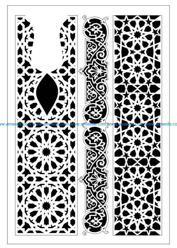 Design pattern woodcarving E0009930 file dxf free vector download for Laser cut CNC