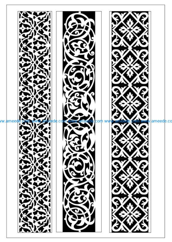 Design pattern woodcarving E0009931 file dxf free vector download for Laser cut CNC