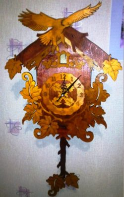 Eagle wall clock file cdr and dxf free vector download for Laser cut