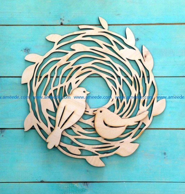Easter decoration nest file cdr and dxf free vector download for Laser cut