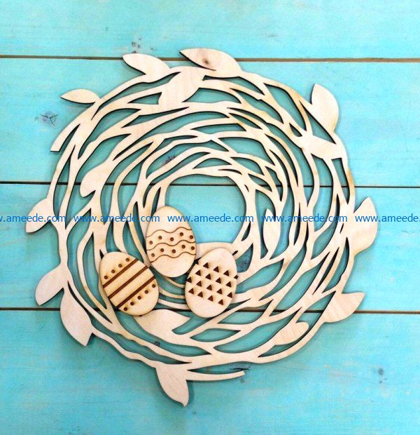 Easter egg nest file cdr and dxf free vector download for Laser cut