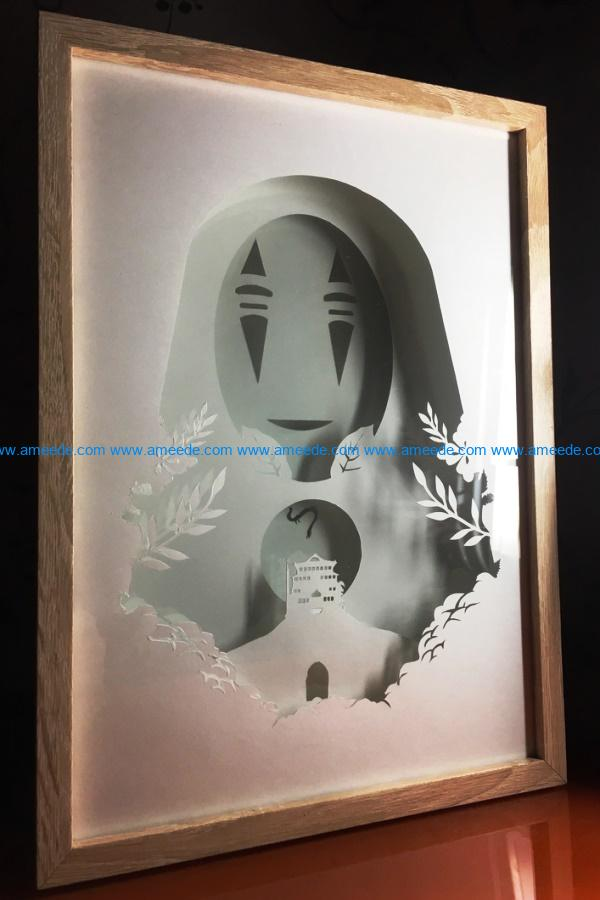Faceless animation light paintings file cdr and dxf free vector download for Laser cut