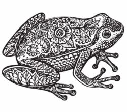 Flower frog file cdr and dxf free vector download for laser engraving machines