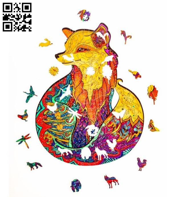 Fox jigsaw puzzles file cdr and dxf free vector download for Laser cut