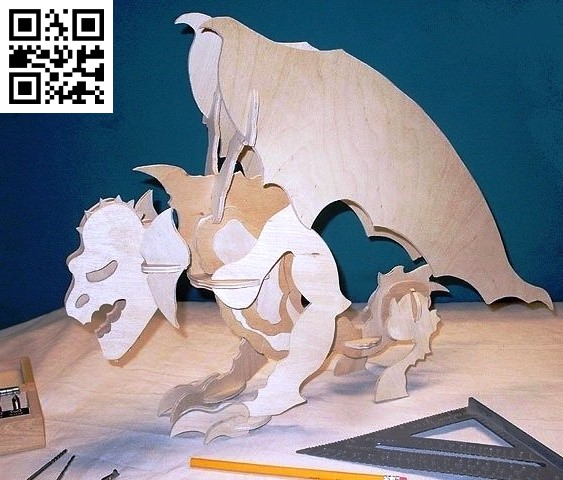 Gargoyle Puheads file cdr and dxf free vector download for Laser cut