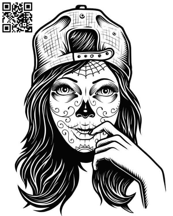 Girl with a cap file cdr and dxf free vector download for laser engraving machines