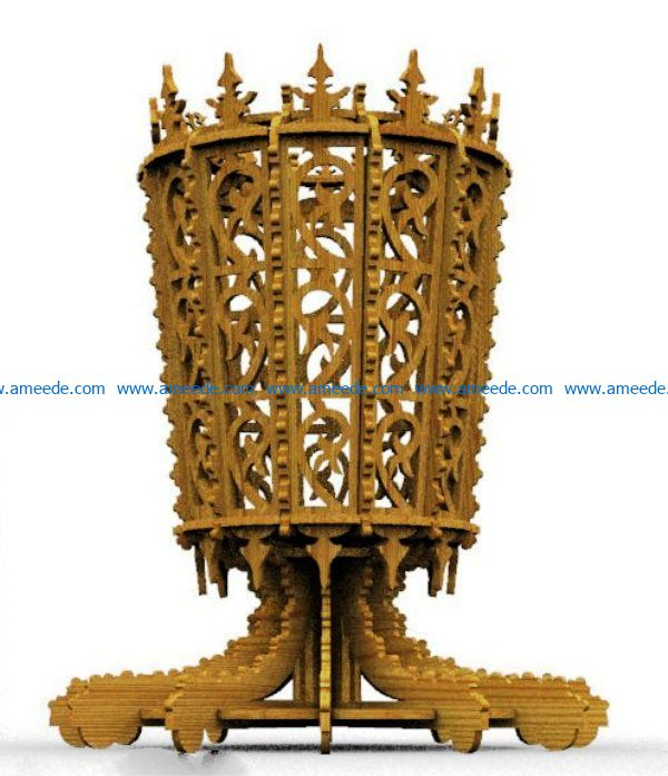 Goblet file cdr and dxf free vector download for Laser cut