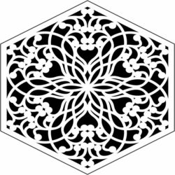 Hexagonal decorative pattern E0009796 file cdr and dxf free vector download for Laser cut