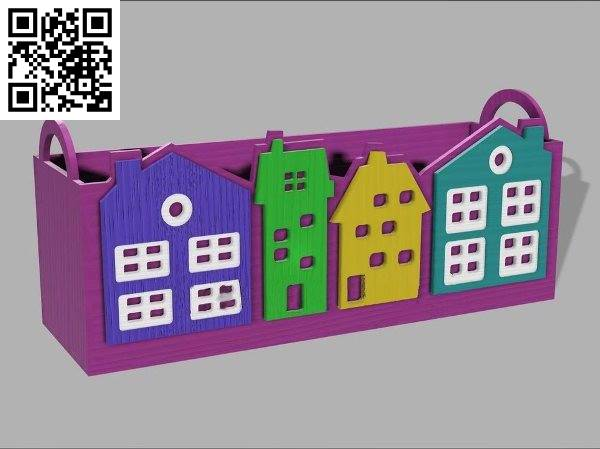 House pencil box file cdr and dxf free vector download for Laser cut