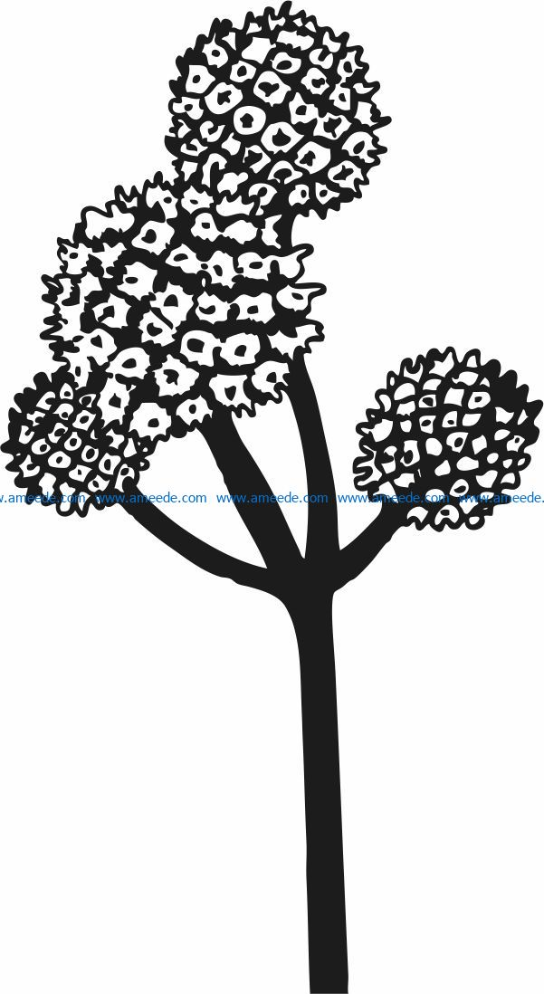 Iris Flower file cdr and dxf free vector download for laser engraving machines