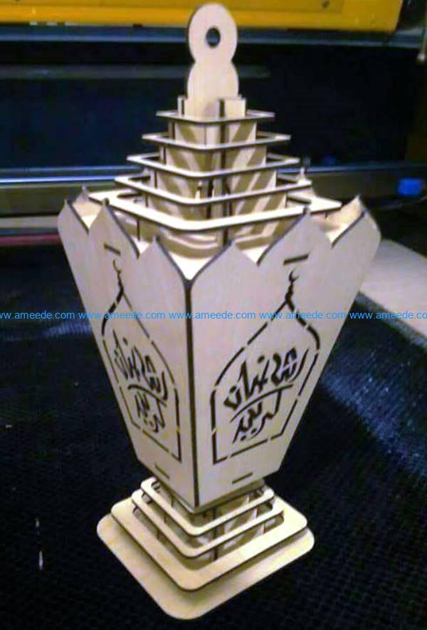 Islamic lantern file cdr and dxf free vector download for Laser cut