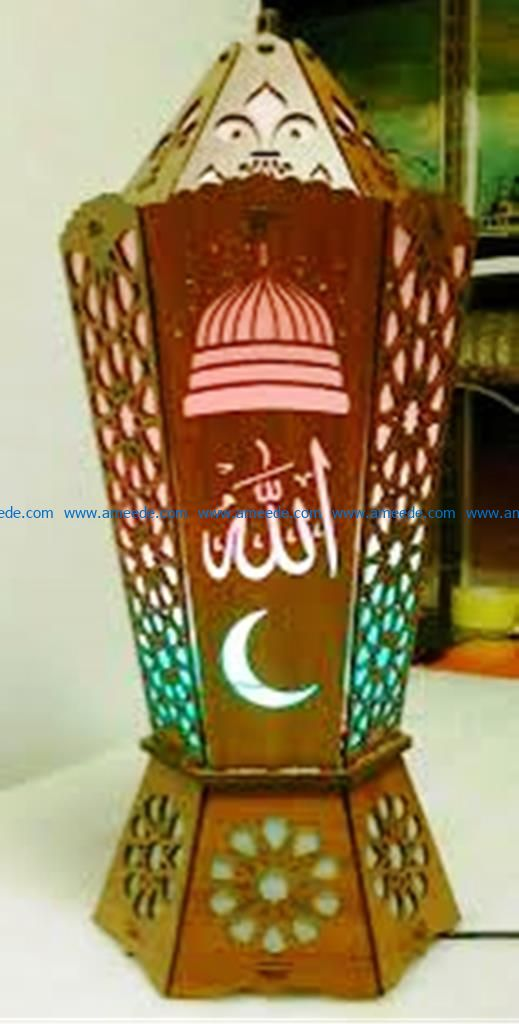 Islamic wooden lights file cdr and dxf free vector download for Laser cut