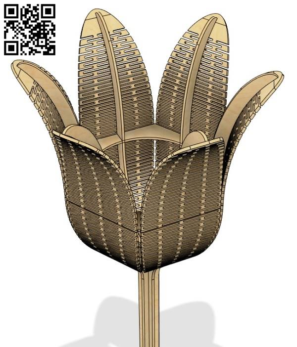 Lamp flower file cdr and dxf free vector download for Laser cut