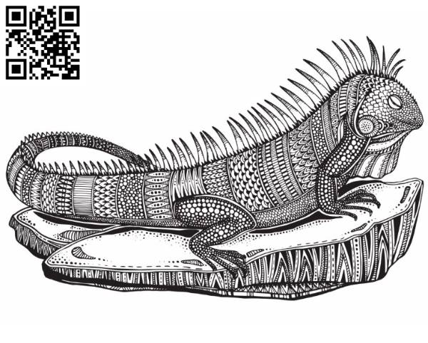 Lizard file cdr and dxf free vector download for laser engraving machines