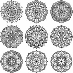 Mandala floral pattern file cdr and dxf free vector download for Laser cut