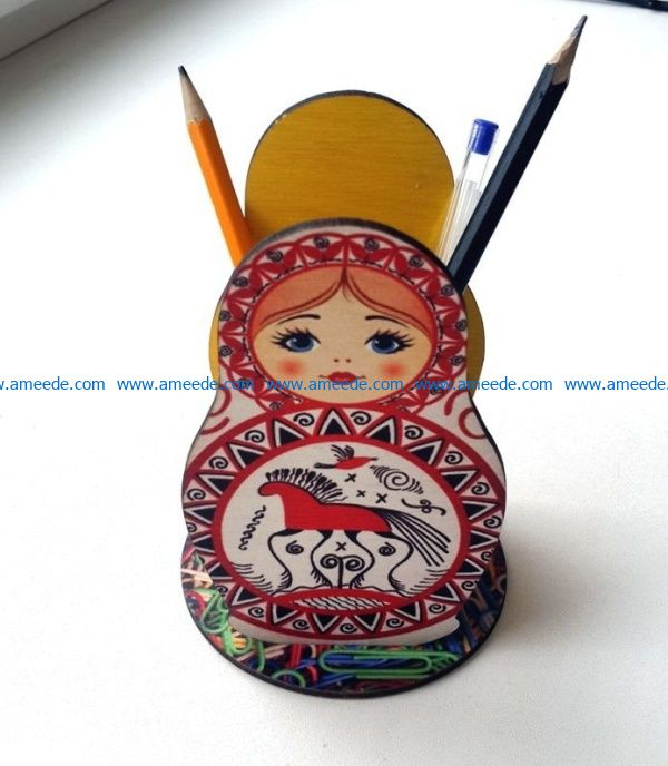 Matryoshka pen box file cdr and dxf free vector download for Laser cut
