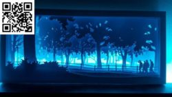 Mikes landscapes light paintings file cdr and dxf free vector download for Laser cut