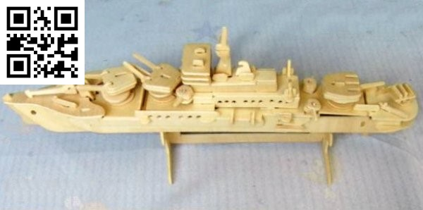 Military Cruiser file cdr and dxf free vector download for Laser cut