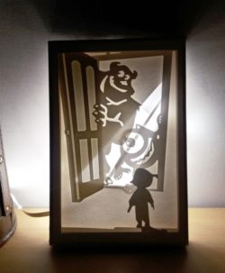 Monsters light paintings file cdr and dxf free vector download for Laser cut