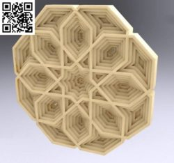 Multilayer mandala file cdr and dxf free vector download for Laser cut