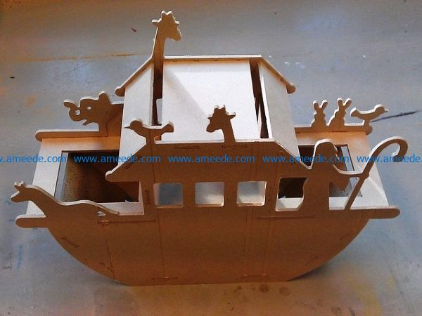 Noahs ark file cdr and dxf free vector download for Laser cut