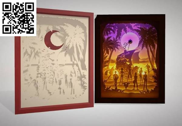 One Piece file cdr and dxf free vector download for Laser cut