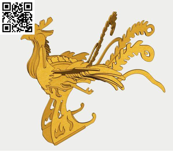 Phoenix file cdr and dxf free vector download for Laser cut