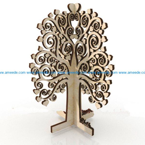 Plywood tree file cdr and dxf free vector download for Laser cut