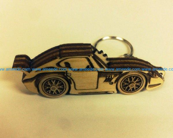 Porsche keychain file cdr and dxf free vector download for Laser cut
