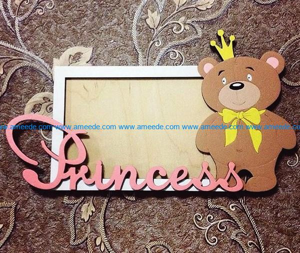 Princess photo frames file cdr and dxf free vector download for Laser cut