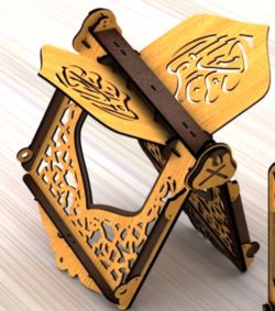 Quran holder file cdr and dxf free vector download for Laser cut