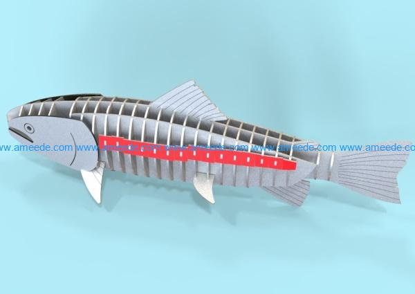 Salmon file cdr and dxf free vector download for Laser cut