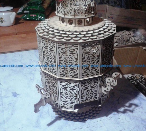Samovar candy box file cdr and dxf free vector download for Laser cut