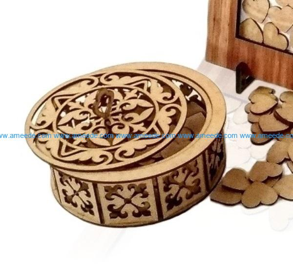 Small wooden box file cdr and dxf free vector download for Laser cut