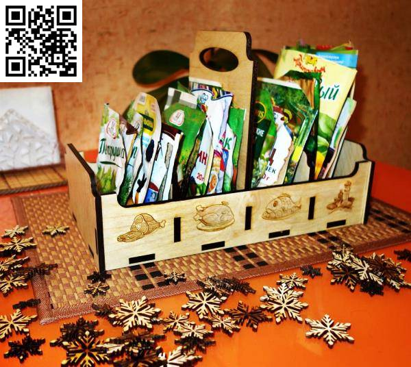 Spice Box Inserts file cdr and dxf free vector download for Laser cut