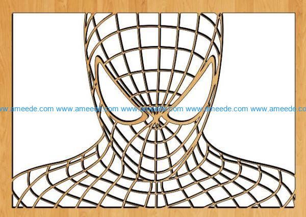 Spiderman file cdr and dxf free vector download for Laser cut