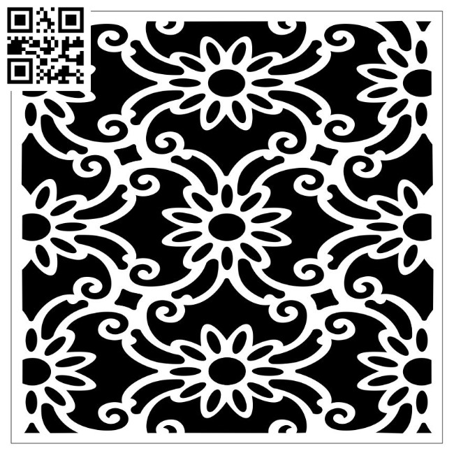 Square decoration E00010137 file cdr and dxf free vector download for Laser cut