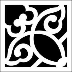 Square decoration E0009725 file cdr and dxf free vector download for Laser cut