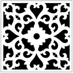 Square decoration E0009825 file cdr and dxf free vector download for Laser cut