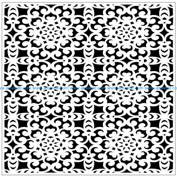 Square decoration E0009827 file cdr and dxf free vector download for Laser cut