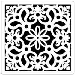 Square decoration E0009853 file cdr and dxf free vector download for Laser cut