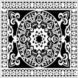Square decoration E0009854 file cdr and dxf free vector download for Laser cut
