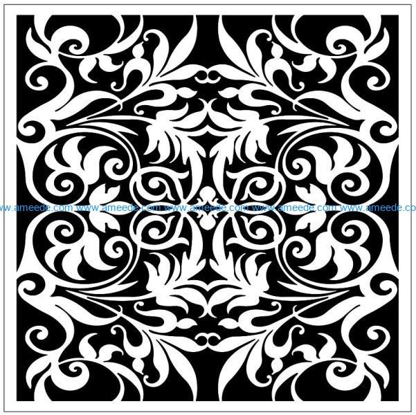 Square decoration E0009855 file cdr and dxf free vector download for Laser cut