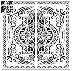 Square decoration E0010138 file cdr and dxf free vector download for Laser cut