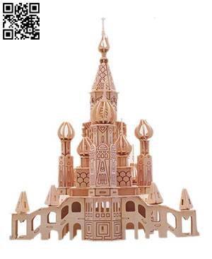 St. Basil's Cathedral file cdr and dxf free vector download for Laser cut